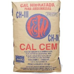 Cal Hidratada CH III 20kg Cal Cem