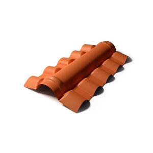 Cumeeira PVC Precon Central 0,9mx56cm Cerâmica