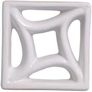 Tijolo de Louça 18x18x8cm Vazado Estrela Branco Cerâmica Martins