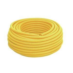 Eletroduto Corrugado PVC Tigre 25mm 50m Amarelo