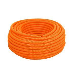 Eletroduto Corrugado Reforçado PVC Tigre 25mm 50m Laranja