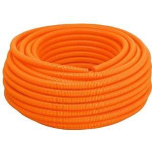 Eletroduto Corrugado Reforçado PVC Tigre 32mm 25m Laranja