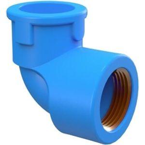 "Joelho 90° Tigre Soldável 25mmx1/2"" PVC Azul"