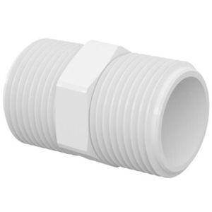 """Niple Roscável Tigre 1/2"""" PVC Branco"""