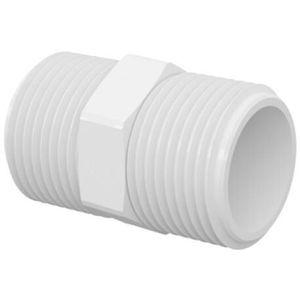 """Niple Roscável Tigre 3/4"""" PVC Branco"""