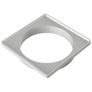 Porta Grelha PVC Quadrado Tigre 150mm Prata para Grelha Quadrada