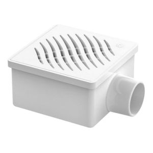 Ralo para Esgoto Quadrado PVC Tigre 100x53x40mm Branco