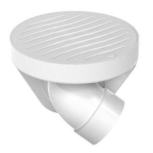 Ralo para Esgoto Redondo com Saída Articulada PVC Tigre 100x40mm Branco