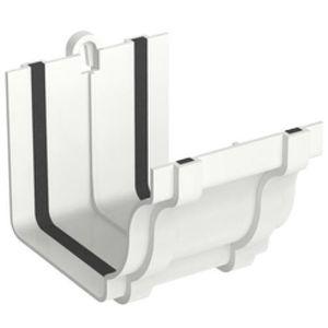Emenda para Calha PVC Tigre Aquapluv Style 132x89mm Branco