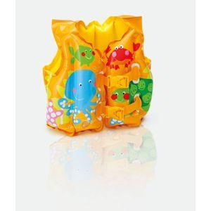 Colete Inflável Infantil Intex Peixinho 41x30cm Amarelo