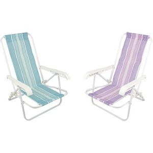Cadeira de Praia Infantil Mor 4 Posições Cores Sortidas