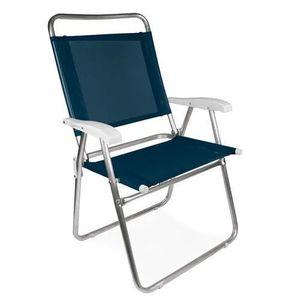 Cadeira de Praia Mor Master Plus Alumínio Azul 2112