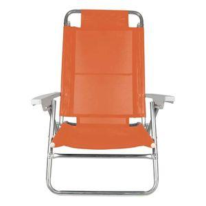 Cadeira de Praia Mor 6 Posições Alumínio Cores Sortidas