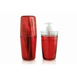 Kit de Acessórios para Banheiro Martiplast 2 Peças Vermelho
