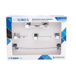 Kit de Acessórios para Banheiro Stamplas Euro 5 Peças Cromado