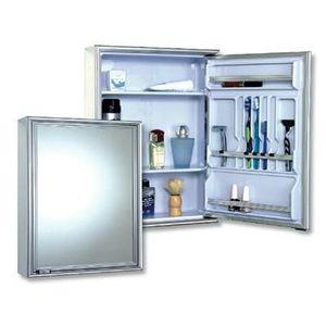Espelheira para Banheiro Cris Metal 58,5x44cm Alumínio Branco Natural Sobrepor