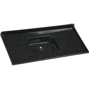 Pia de Cozinha Sintética Standart A. J. Rorato 120x55cm Mármore Sintético Pedra Escura