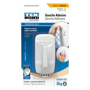 Gancho Adesivo Tekbond Topázio G Branco