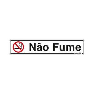 Placa Sinalizadora Não Fume Autoadesiva 5x25cm Bemfixa