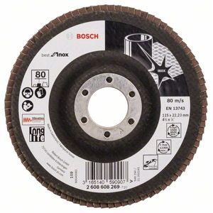 Disco Flap Bosch para Metal X581 115mm Grão 80
