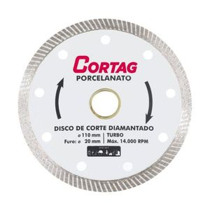 Disco Diamantado Turbo Porcelanato Cortag 110mm