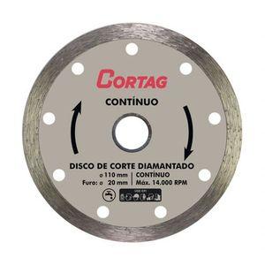 Disco Diamantado Contínuo Cortag 110mm