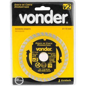 Disco Diamantado Turbo Vonder 110mm