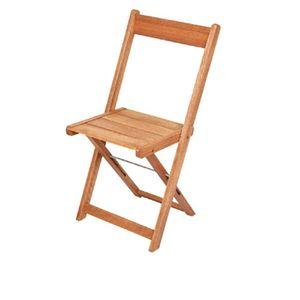 Cadeira de Madeira Metalnew Orquídea Dobrável