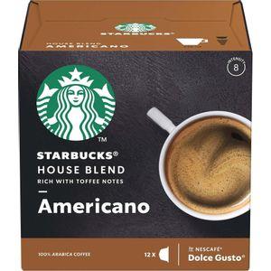 Starbucks Dolce Gusto House Blend Americano 12 Cápsulas