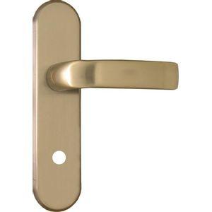 Fechadura Espelho para Banheiro Aliança Home 40mm Bronze Latonado 4173