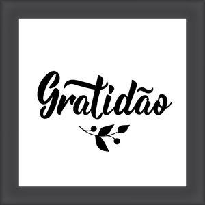 Quadro Diagonal Frases Gratidão II 20x20cm