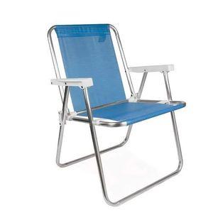 Cadeira de Praia Mor Alta Alumínio Azul 2274