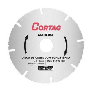 Disco de Corte com Tungstênio Cortag para Madeira 110mm