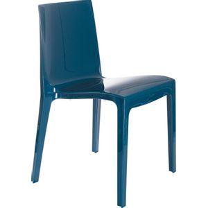 Cadeira Plasútil Taurus Azul Petróleo