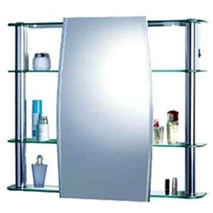 Espelheira para Banheiro Cris Metal 64x80cm Alumínio Branco Cris Slip