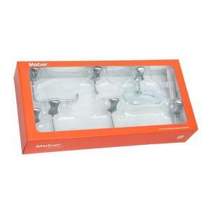 Kit de Acessórios para Banheiro Meber Clic Cromado 5 Peças