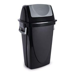 Lixeira de Plástico Basculante Plasútil Ecoblack 58L Preta