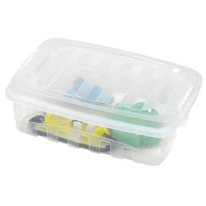 Caixa Organizadora Trava/Tampa Gran Box Plasútil 9,3L 40,5x29x12,2cm Transparente