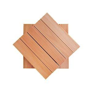 Deck Modular Madvei 50x50cm Saligna Natural
