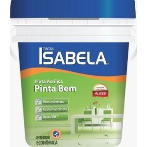Tinta Alessi Acrílico Pinta Bem Isabela Econômica 3,6L Branco Fosco