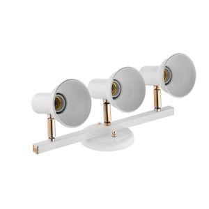 Trilho Dital Infinity 3 Lâmpadas Branco/Rose Gold