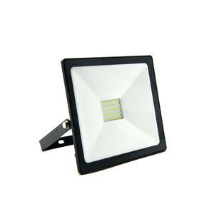 Refletor LED Ecoforce Compacto Luz Amarela 30W 3000K Preto Autovolt
