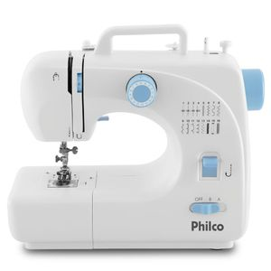 Máquina de Costura Philco PMC16BP Branca/Azul Bivolt