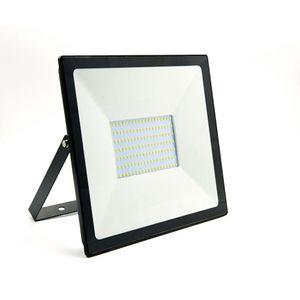 Refletor LED Ecoforce Compacto Luz Branca 100W 6500K Preto Autovolt
