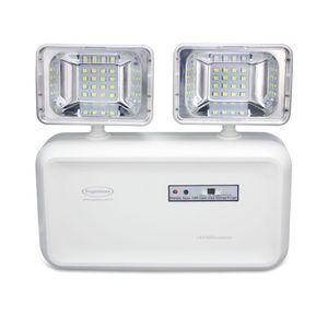 Luminária de Emergência LED Segurimax 600 Lúmens 2 Faróis Branca Bivolt