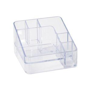 Organizador de Cosméticos Dello 6 Divisórias 7,5x11,2x11,2cm Cristal