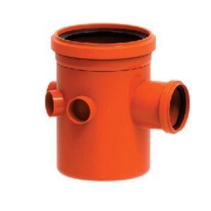 Corpo para Caixa Sifonada PVC Tigre 3 Entradas 150x185x75mm Vermelho