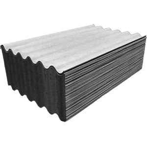 Telha Fibrocimento Isdralit 110x183cmx5mm Cinza