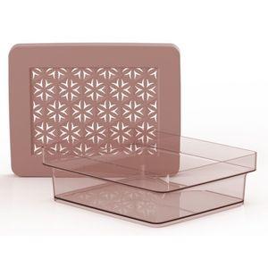 Caixa Organizadora Hana Ordene 20x31,5x6,2cm Rosa