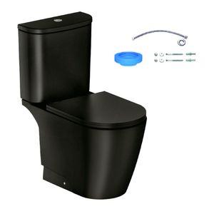 Kit Vaso Sanitário com Caixa Acoplada Incepa Neo Noir Acionamento Duplo 3/6L